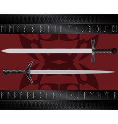 magic swords vector image vector image
