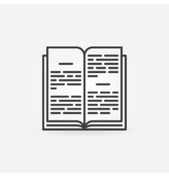 Open book linear icon vector image vector image