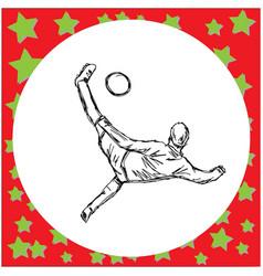 overhead kick soccer player vector image