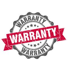 warranty stamp sign seal vector image