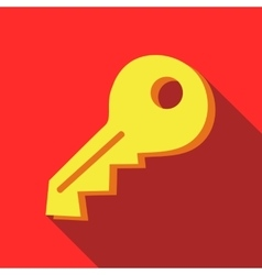 Yellow key icon in flat style vector image vector image