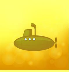 yellow submarine sails vector image