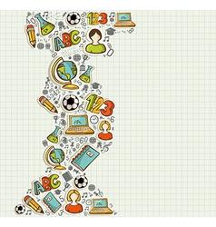 Back to School education cartoon icons vector image vector image