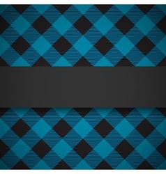 Blue tilted lumberjack plaid pattern vector image