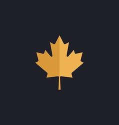Canadian Leaf computer symbol vector image