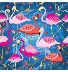different pattern of flamingos vector image