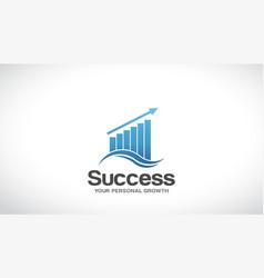 finance success logo graphic design vector image vector image
