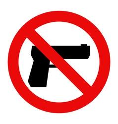 No gun sign vector image vector image