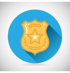 Police officer bage icon protection law order vector image vector image
