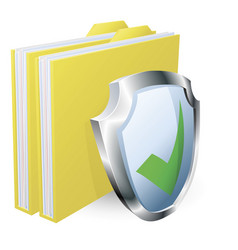 protected folder document concept vector image
