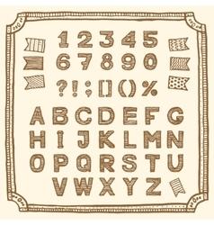 sale font vector image