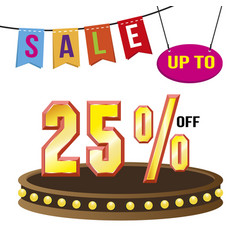 special 25 offer sale tag isolated vector image vector image