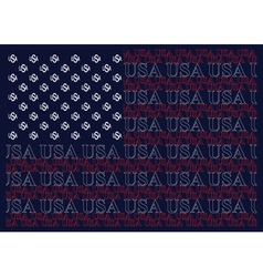 United States of America Text Flag vector image vector image
