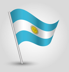 waving simple triangle argentine flag vector image vector image