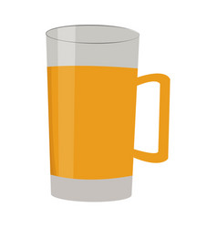 beer in glass and mug drink alcohol vector image