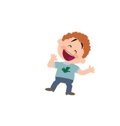 cartoon character boy cheerful vector image