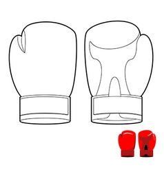 Coloring book of boxing gloves sports acces vector image vector image
