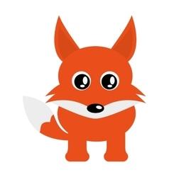 cute fox cartoon icon vector image