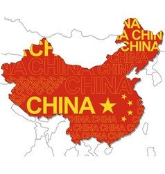 Map of china vector