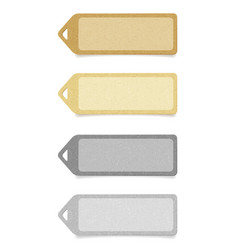 recycled paper labels set vector image vector image