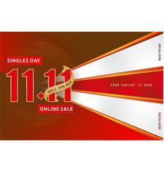 1111 sale banner 1111 online sale singles day vector image