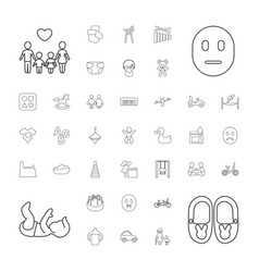 37 child icons vector