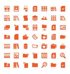 49 folder icons vector image
