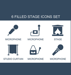 6 stage icons vector