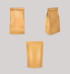 A set brown paper bags vector
