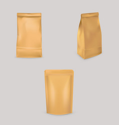 a set of of brown paper bags vector image