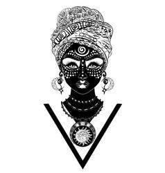 african voodoo woman vector image