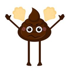 Angry poop emoji vector