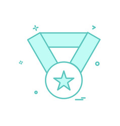 award medal winner icon design vector image