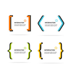 banner geometry frame set abstract advertising vector image