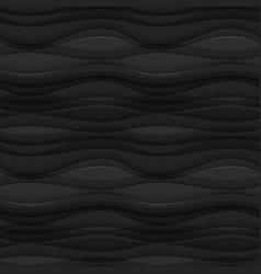 Black seamless wavy background texture vector