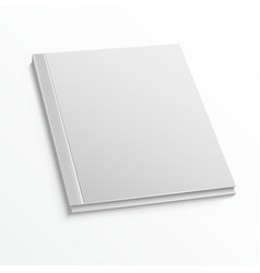 Blank magazine cover template on white background vector image