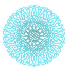 blue mandala isolated on white background vector image