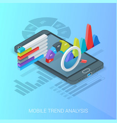 Business trends analysis banner vector