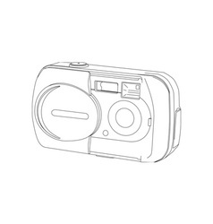 Camera Line Drawing vector