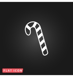 Candy cane flat icon vector