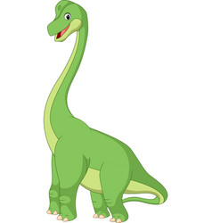 cartoon brachiasaurus vector image