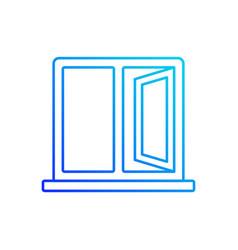 casement windows linear icon vector image