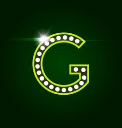 Casino and resort letter g luxury letter vector