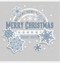 Christmas and new years background with greeting vector