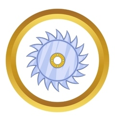 Circular saw blade icon vector
