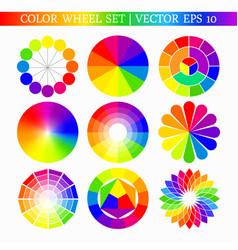 Color wheel set vector
