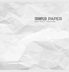 crumpled paper texture white empty leaf vector image