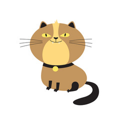 cute card with funny cat isolated on white vector image
