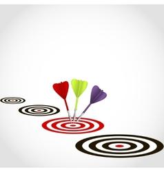 Darts hit a target vector