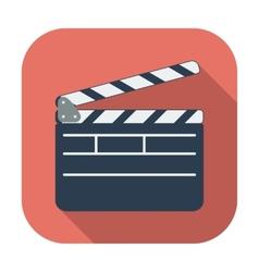 Director clapperboard icon vector